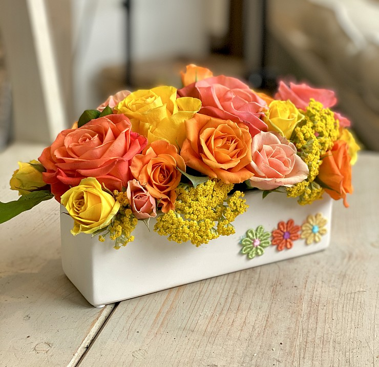 Your Container + Our Flowers = A Design That Reflects Imagination!